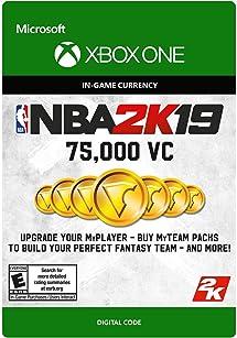 Amazon com: NBA 2K19: 75000 VC Pack - Xbox One [Digital Code]: Video