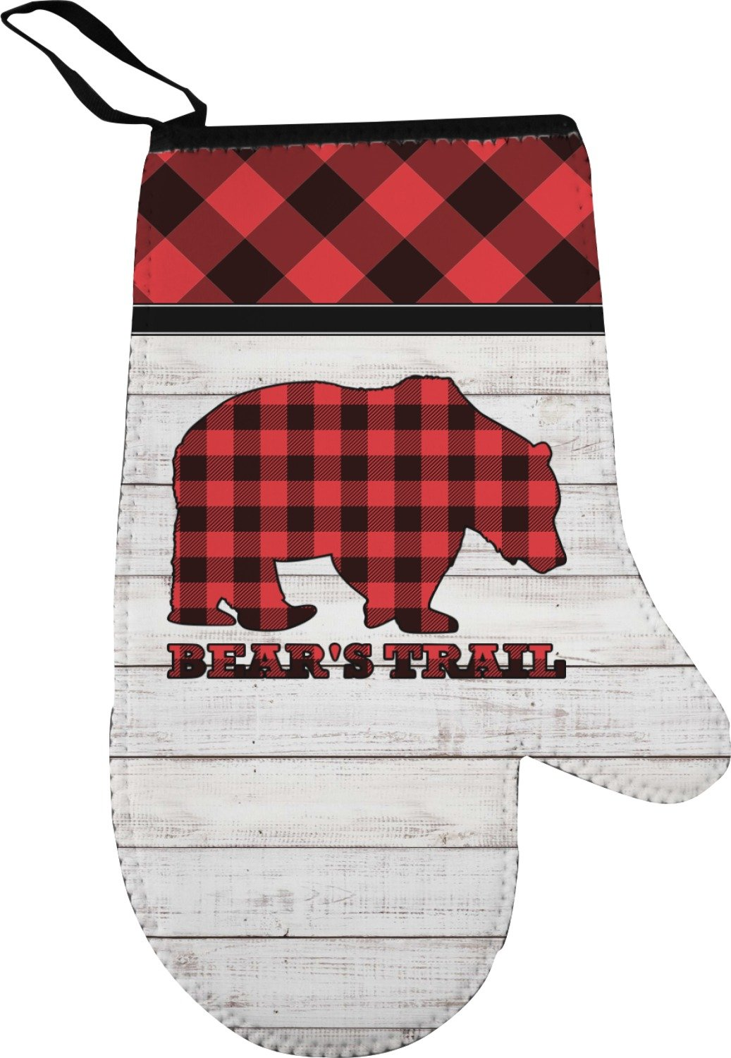 a3f9dbc8a Amazon.com  YouCustomizeIt Lumberjack Plaid Right Oven Mitt (Personalized)   Home   Kitchen