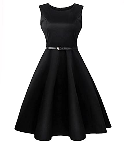 Elegant Dresses, Budding Joy Vintage Classy Floral BoatNeck Sleeveless Picnic Party Women's Cocktail...