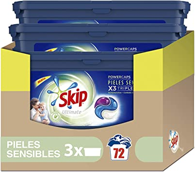 Skip Ultimate Triple Poder Pieles Sensibles Detergente Cápsulas ...