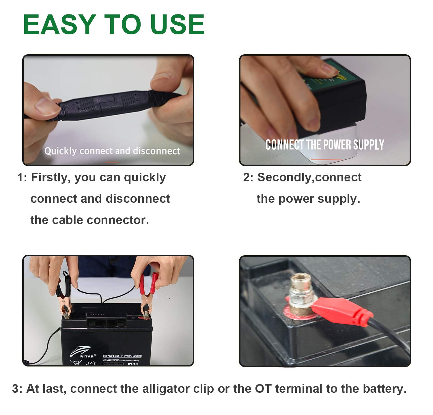 Mua Sn Phm Mroinge Mbc010 Automotive Trickle Maintainer 12v 1a 6v Car Battery Charger 750ma Lead Acid Smart Automatic For Motorcycle Boat Lawn Mower