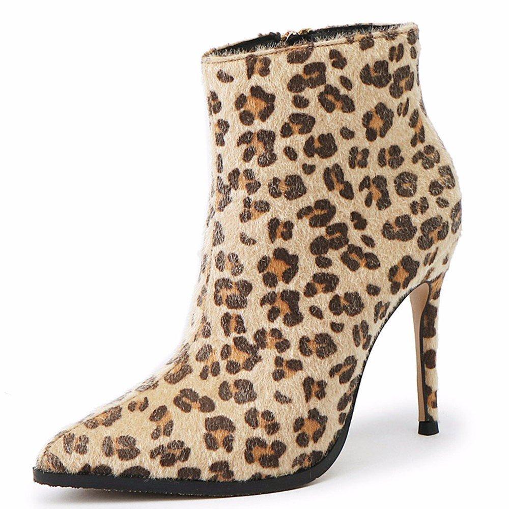 FLYRCX Im Herbst, Winter und heiße, modische, modische, modische, warm, hohe Schuhe, Persönlichkeit stiefel Damen 36 d01004