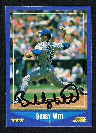 bobby witt 149 signed autograph auto 1988 score baseball trading card