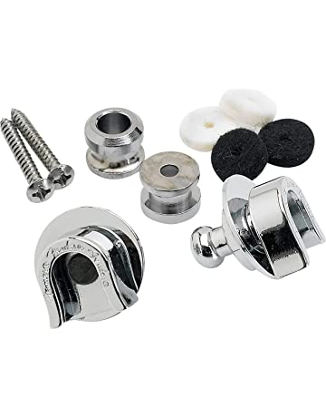 12pcs Guitar Strap Locks Metal Strap Buttons Metal End Pins Flat Head for Acoustic Classical Electric Guitar Bass Ukulele Silver Pack of 12