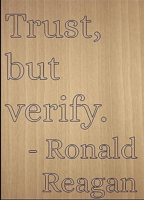 Amazon Com Mundus Souvenirs Trust But Verify Quote By