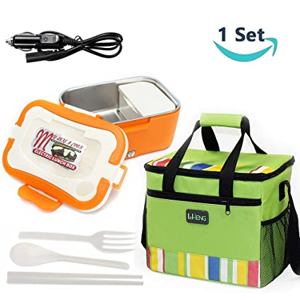 Amazon Com 12v Car Use Electric Heating Lunch Box Portable