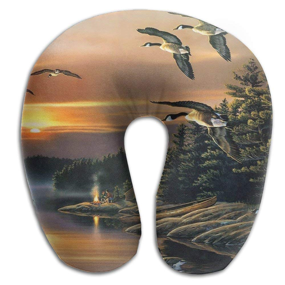 Gkf Travel Pillow Neck Camp Wood Comfortable U Shaped Pillow Car Airplane
