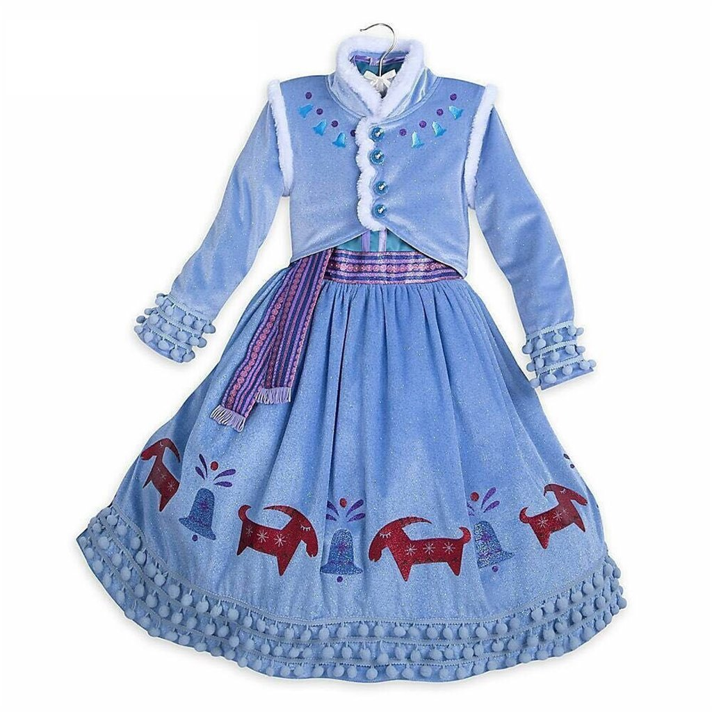 DreamHigh Halloween Princess Anna Costume Girl's Dress with Coat 2pcs 10 by DreamHigh (Image #5)