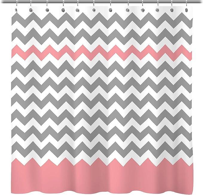 Geometric Minimalist Chevron Zig Zag Custom Curtain Panel by Spoonflower Gray Zig Zag by chicca/_besso White Grey Chevron Curtain Panel