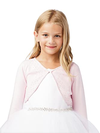 be306b0d71d3 Amazon.com  Tip Top Kids Big Girls Pink Long Sleeve Beaded Button ...
