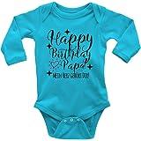 Mikalino Babybody Langarm Happy Birthday Papa! Mein Herz gehört Dir!