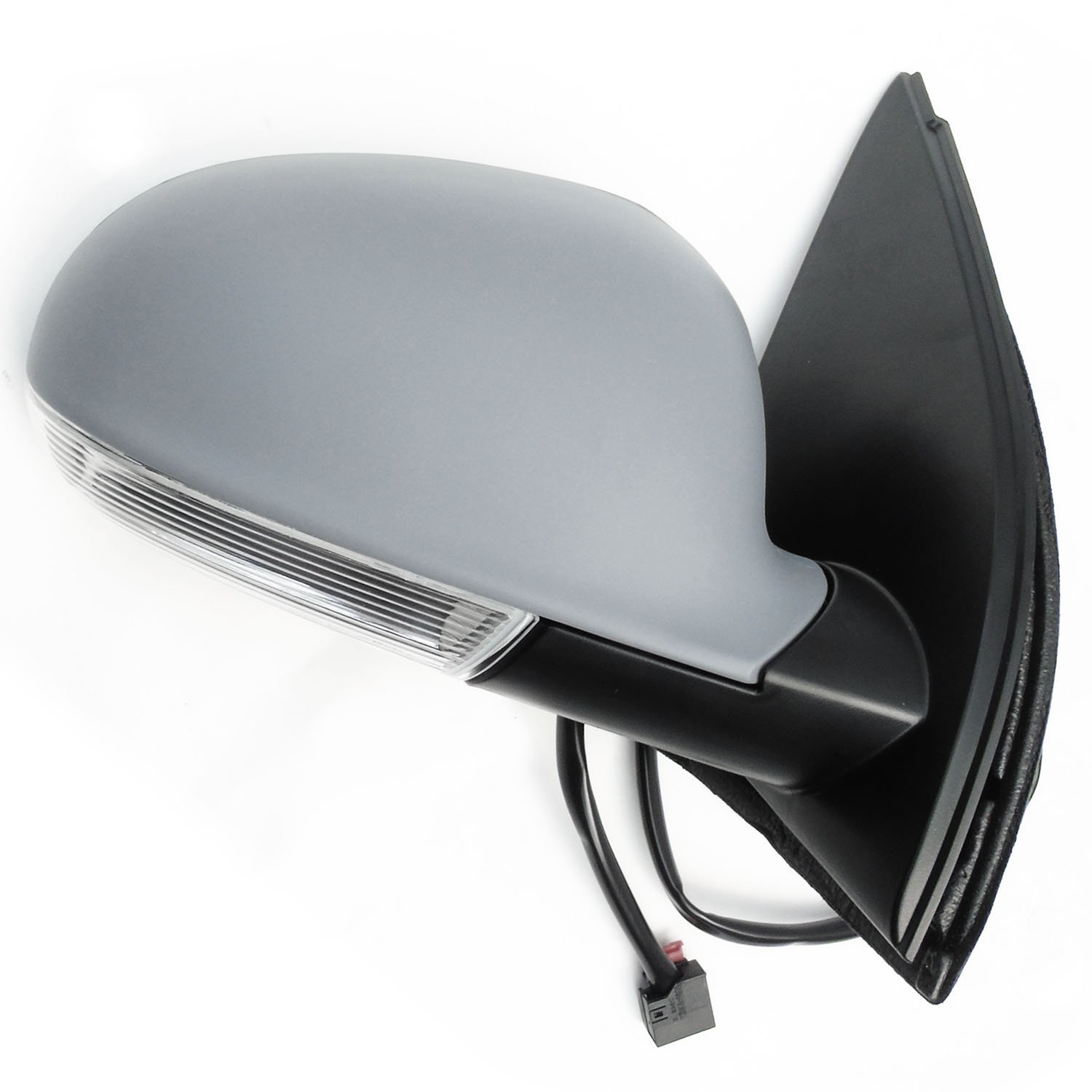 Underground Parts Race Red Left Nearside Passenger Side Full Complete Door Wing Mirror Unit Electric