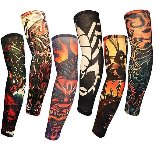 Mzqaxq Tattoo Sleeve 6 Unids Cool Tattoo Print Ciclismo Bicicleta ...