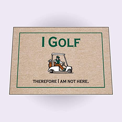 Bon Amazon.com : High Cotton I Golf Therefore Doormat : Welcome Mat : Garden U0026  Outdoor