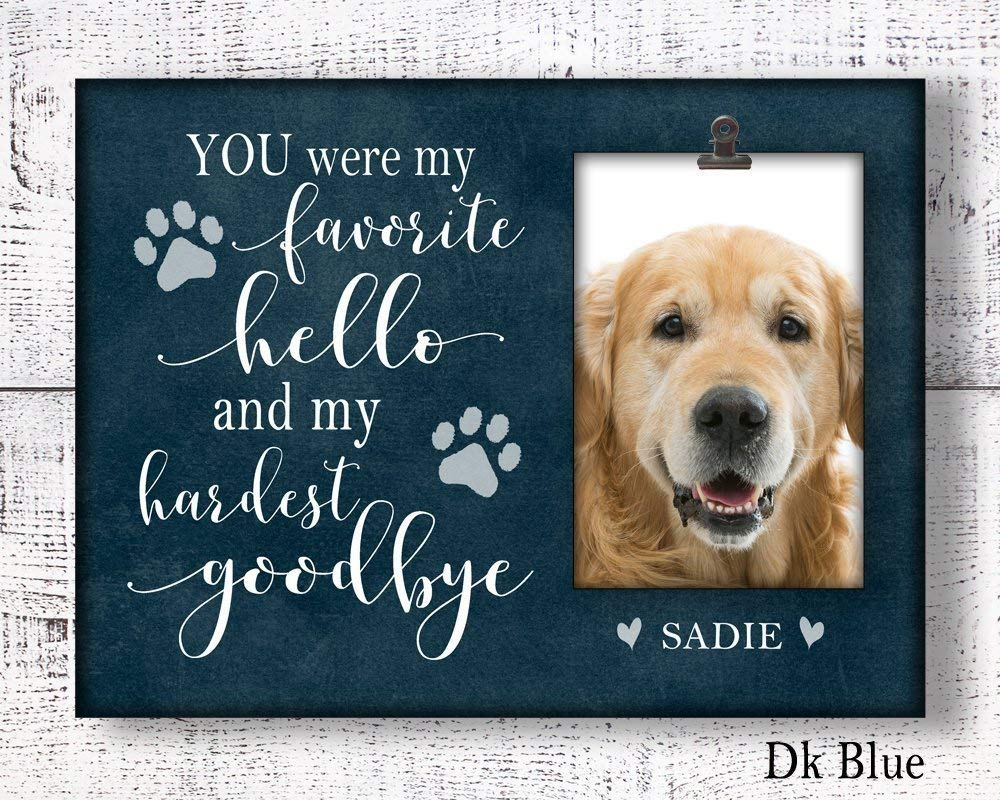 Loss Of Pet >> Amazon Com Dog Memorial Picture Frame Personalized Loss Of