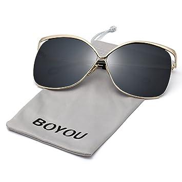 BVAGSS Lunettes De Soleil Mode Femme Tide Anti - UV Style Vintage(WS008) (Black Gray) jQn3BUd