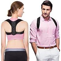 Sky Castle Rückenstütze für eine aufrechteren Haltung, ideal zur Therapie für haltungsbedingte Nacken,Rücken und Schulterschmerzen für Perfekte Haltung Rückenstabilisator verstellbar & atmungsaktiv