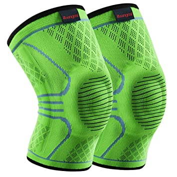 224dc6515d Kuangmi Knee Brace Compression Sleeve Sports Support Brace Pad for  Running,Jogging,Basketball,