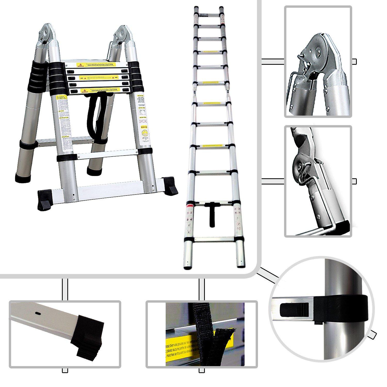Tabouret É chelle Multifonction, Escabeau - Standards/Certifications: EN131 - Charge maximale: 150 kg - 3,8 mè tre(s), Barre stabilisatrice, EN 131 8 mètre(s) Todeco