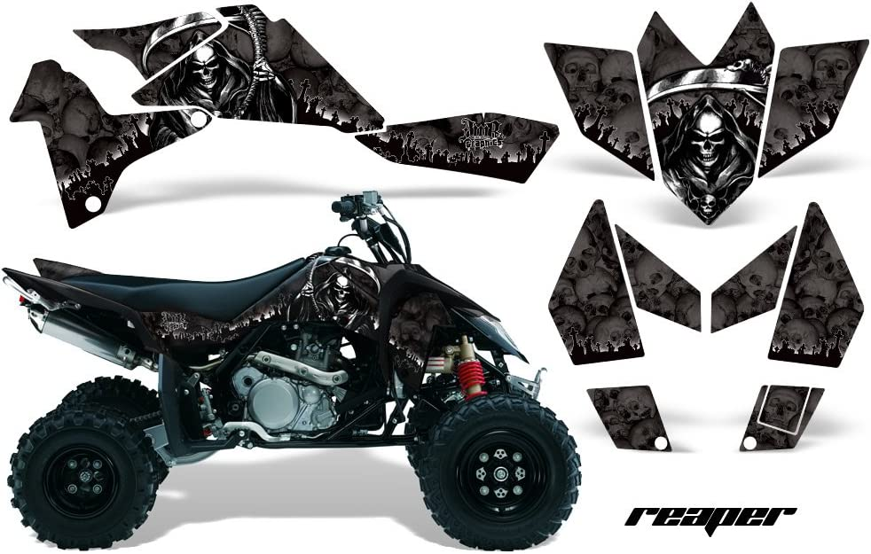 Suzuki LTR450 2006-2009 Graphic Kit ATV Quad Decal Sticker Wrap LTR 450 REAPER YELLOW