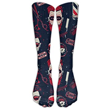 d38eb79e61c Personalized Cool Winter Warm Stockings Vintage Barber Shop Tools Tube  Trouser Calf Women s Fitness Knee High