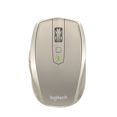 Logitech MX Anywhere 2 Wireless Mobile Mouse, Long Range Wireless Mouse  with Hyper Scroll and Easy-Switch up to 3 Devices – Stone