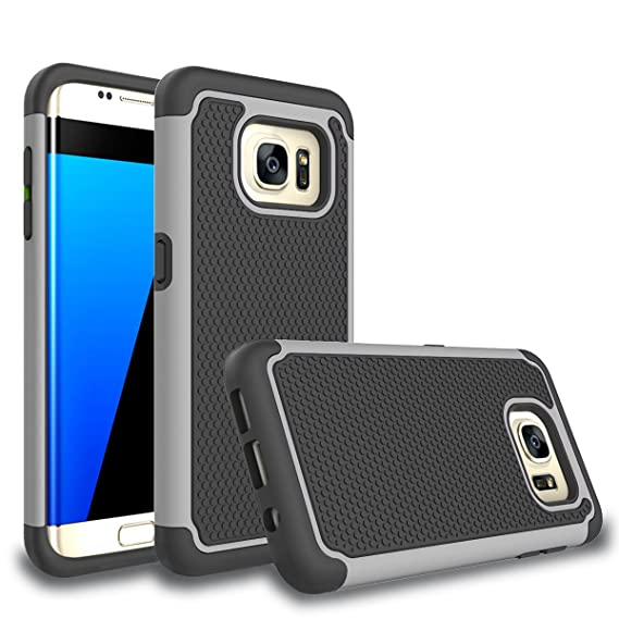 size 40 342fc a58dd Galaxy S7 Edge Case, Bestselling Shop Shock Absorbing Hybrid Rubber Plastic  Impact Defender Rugged Slim Hard Case Cover Shell for Samsung Galaxy S7 ...
