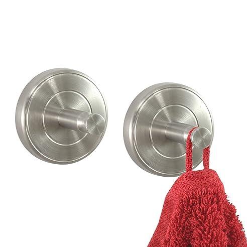 badserie ambiente handtuchhaken handtuchhalter 2er set aus robustem edelstahl matt zur wandmontage - Stilvoll Rollenhalter Kuche Begriff