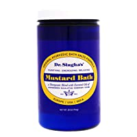 Dr. Singha's Mustard Bath Salts, Therapeutic Bath Detox, 28 Ounce - Relaxing Bath Soak for Sore Muscles, Restless Nights, Aches, Stress & Tension