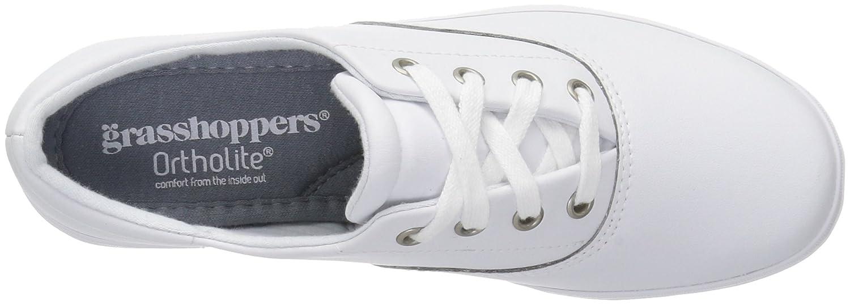 Grasshoppers Women's Janey Ii Fashion Sneaker B01K59LLAS 5.5 B(M) US|White Leather