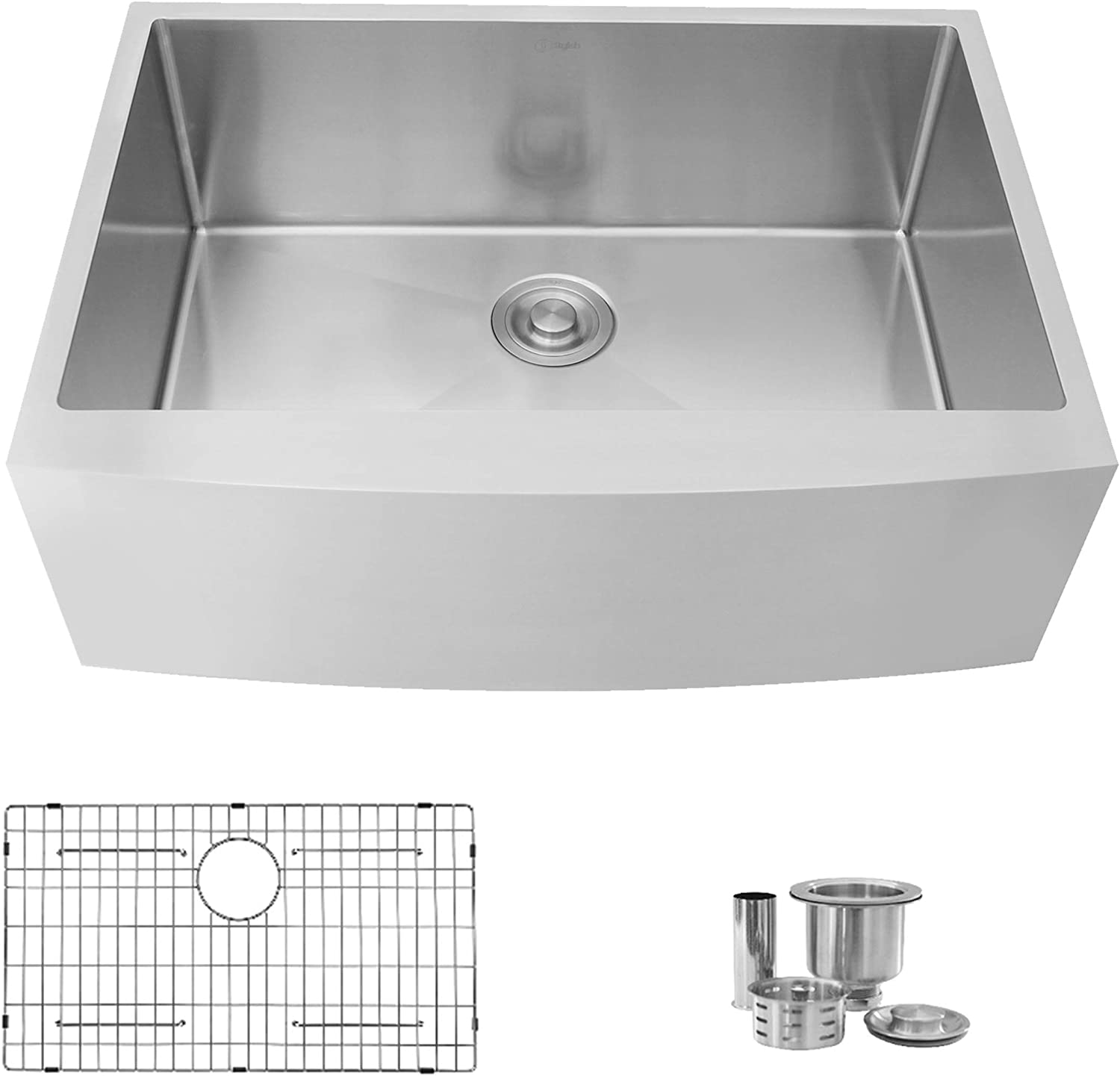 30 L X 22 W Stainless Steel Single Bowl Undermount 16g Farmhouse Kitchen Sink With Grid And Strainer S 316xg Amazon Ca Tools Home Improvement