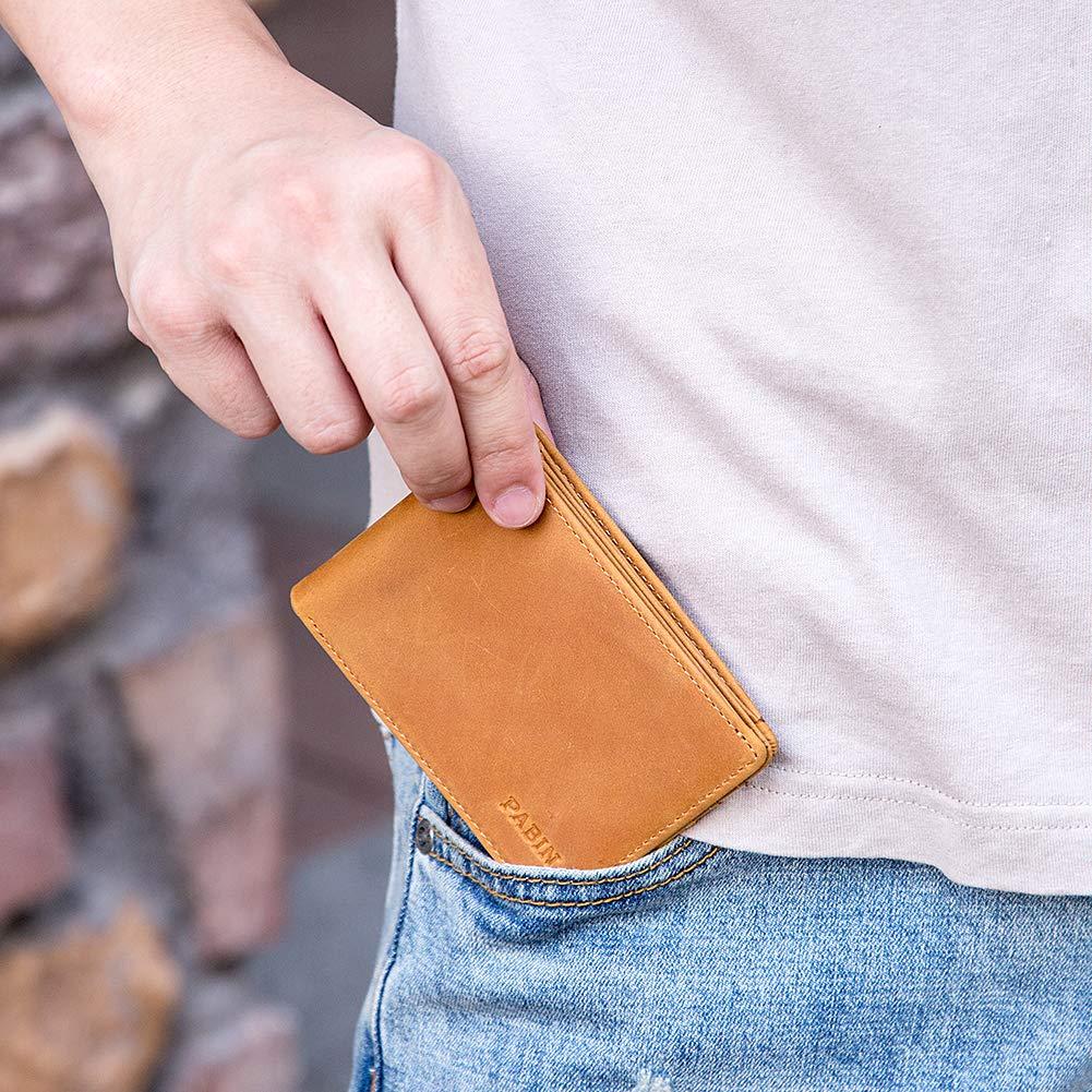 Genuine Leather Wallets for Men Credit Card Holder Bifold Pabin