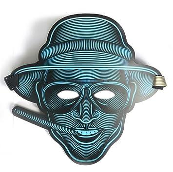 PromMask Mascara Facial Careta Protector de Cara dominó Frente Falso Máscara de Brillo Activado por Voz