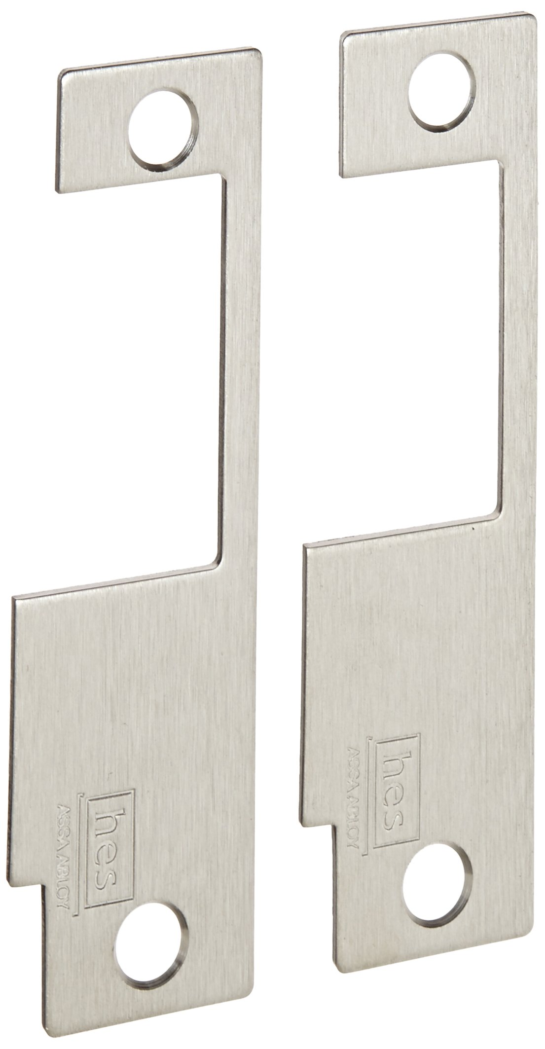 HES Stainless Steel 852L Faceplate for 8500 Series Electric Strikes for Schlage Mortise Locksets, Satin Stainless Steel Finish