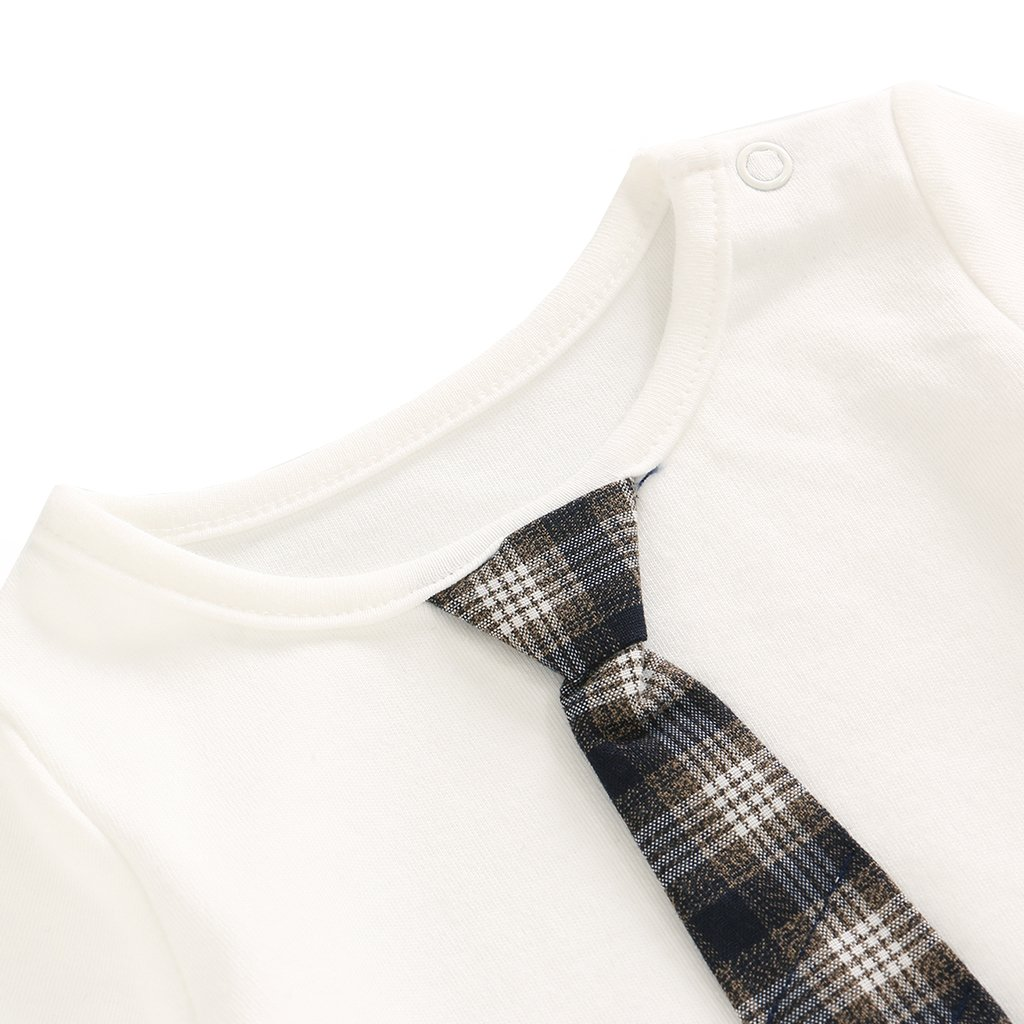 Baby Jungen Gentleman Outifit 3 St/ück Langarm Strampler Weste Kleidung Set 0-18 Monate Hosen