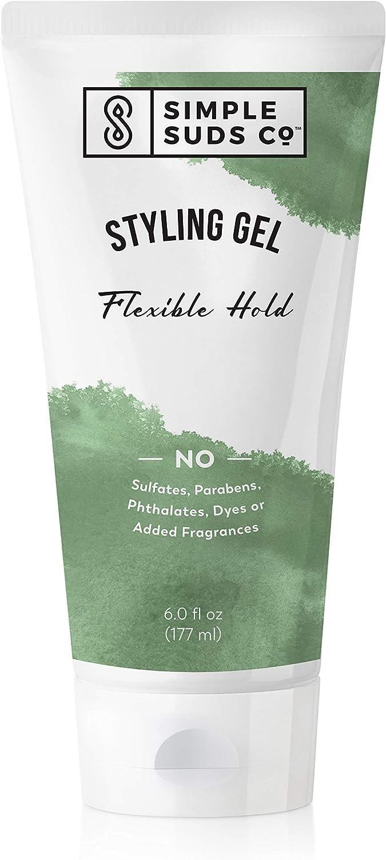 All-natural Hair Styling Gel | Safe for Sensitive Skin | Fragrance-free & alcohol-free | 6 Oz