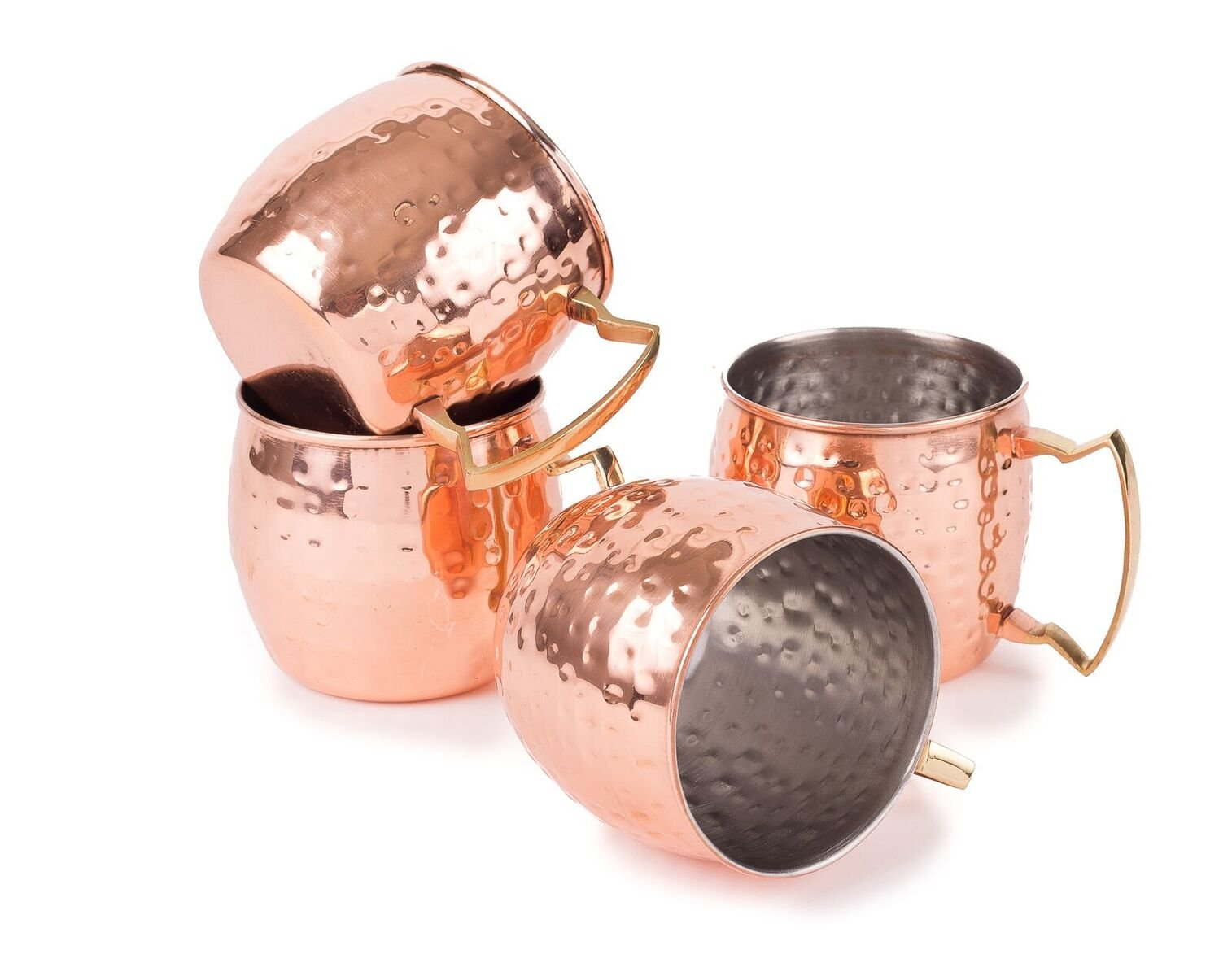 Dozenegg Stainless Steel Copper Moscow Mug 16 Oz Capacity Set of 4