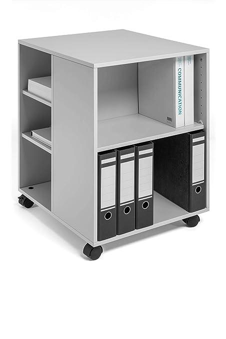 Durable Trolley MULTIFUNCTIONEEL 74/59 Open GRIJS Mueble y Soporte para impresoras - Gabinete para Impresora
