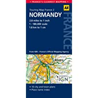 AA Road Map Normandy (AA Touring Map France 02) (AA Maps)