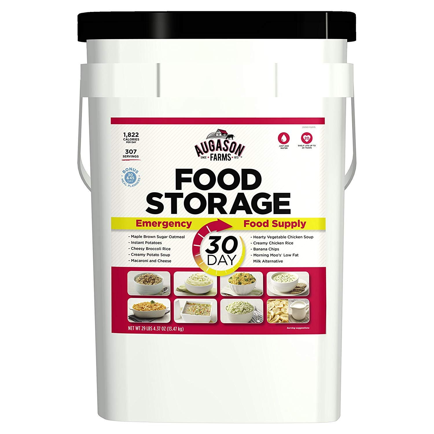 Augason Farms 30-Day Emergency Food Storage Supply 29 lb 4.37 oz 7 Gallon Pail (1-Pail) by  (Image #1)