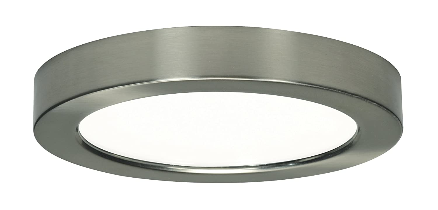 Satco products s9329 blink flush mount led fixture 135w7 satco products s9329 blink flush mount led fixture 135w7 brushed nickel amazon arubaitofo Gallery