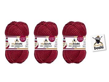 3er Set Myboshi Wolle Zum Häkeln Oder Stricken Bordeaux
