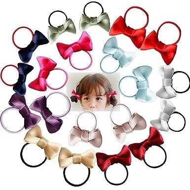 ce0c878bb3f46 Amazon.co.jp: E-SHOP ヘアゴム 20個 セット ヘアアクセサリー 子供 ...