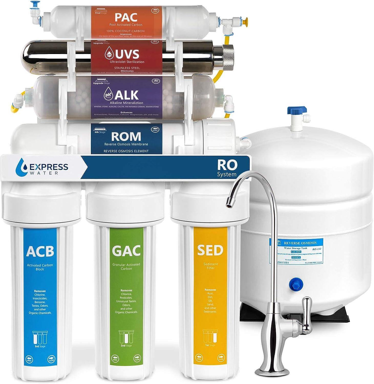 Alkaline Ultraviolet Reverse Osmosis Water Filtration System