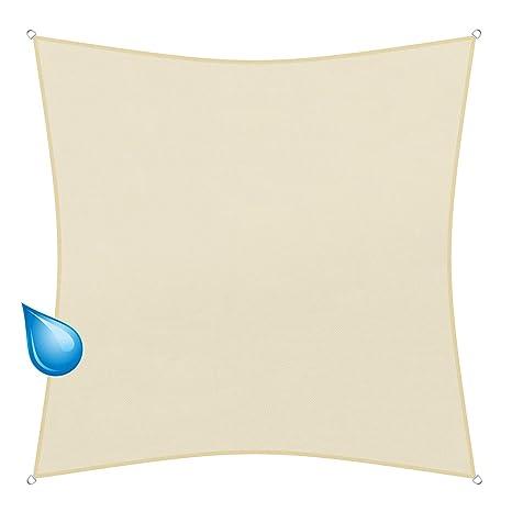 sunprotect 83224 Waterproof Toldo / Vela de Sombra, 5 x 5 m, cuadrado,
