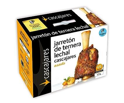 CASCAJARES - Jarretón de Ternera Lechal Asado. 1.7 kilos de Jarrete ya cocinado, listo