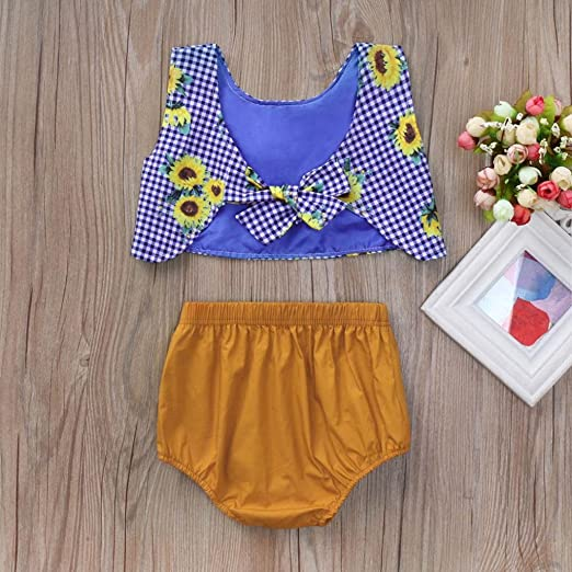 Amazon.com: SMALLE◕‿◕ Clearance,Toddler Infant Baby Girls Clothing Set Sunflower Printed Tops+Shorts Outfits: Clothing