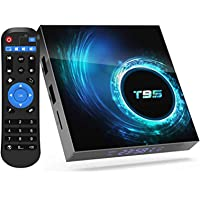 Android 10.0 TV Box,Android Box with 2GB Ram 16GB ROM Quad-core CPU, Support Dual WiFi 2.4G +5G Bluetooth 5.0 4K6K Ultra…