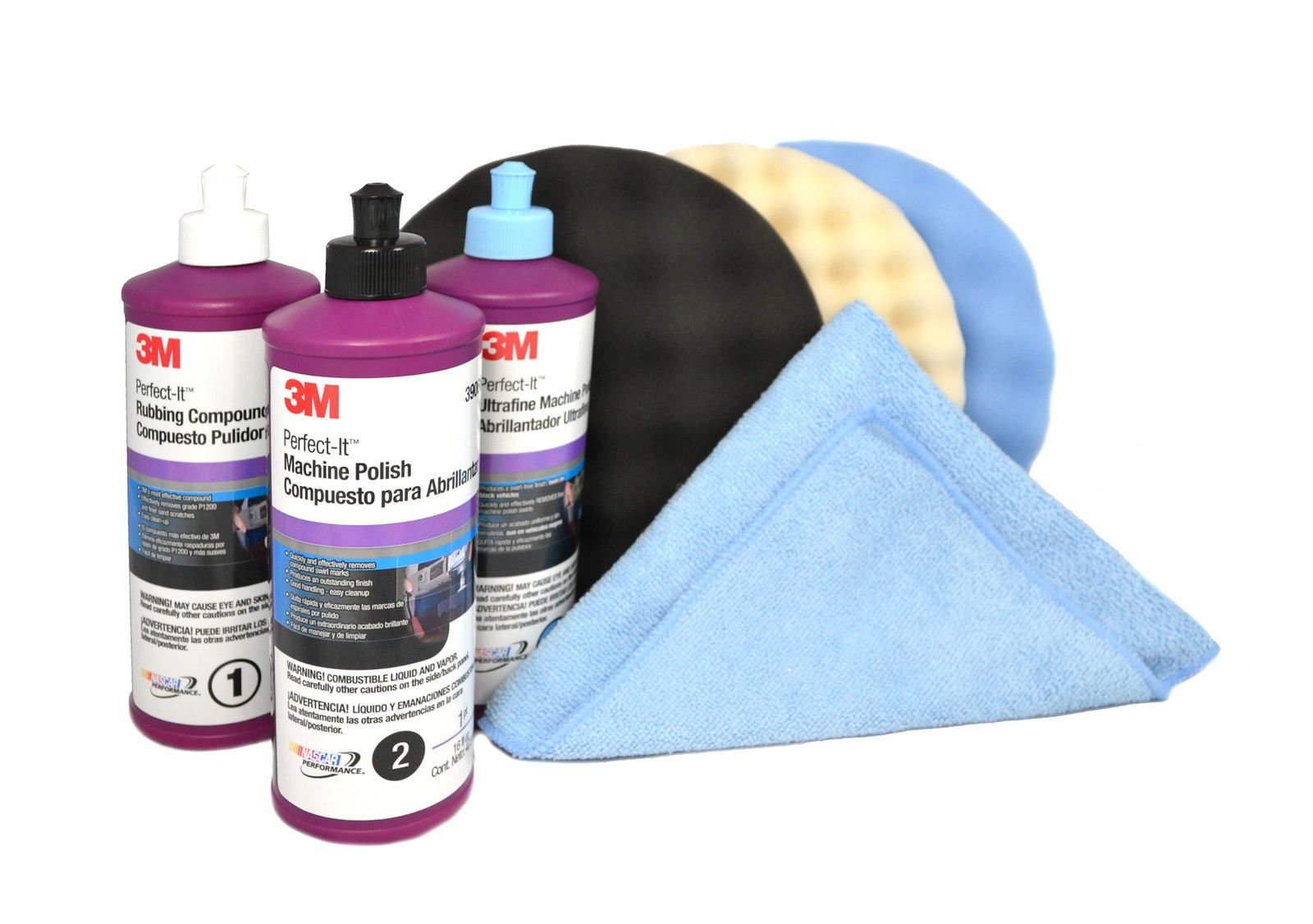 3M Perfect It Buffing & Polishing Kit (39060,39061,39062,5723,5725,5751,6017) by 3M