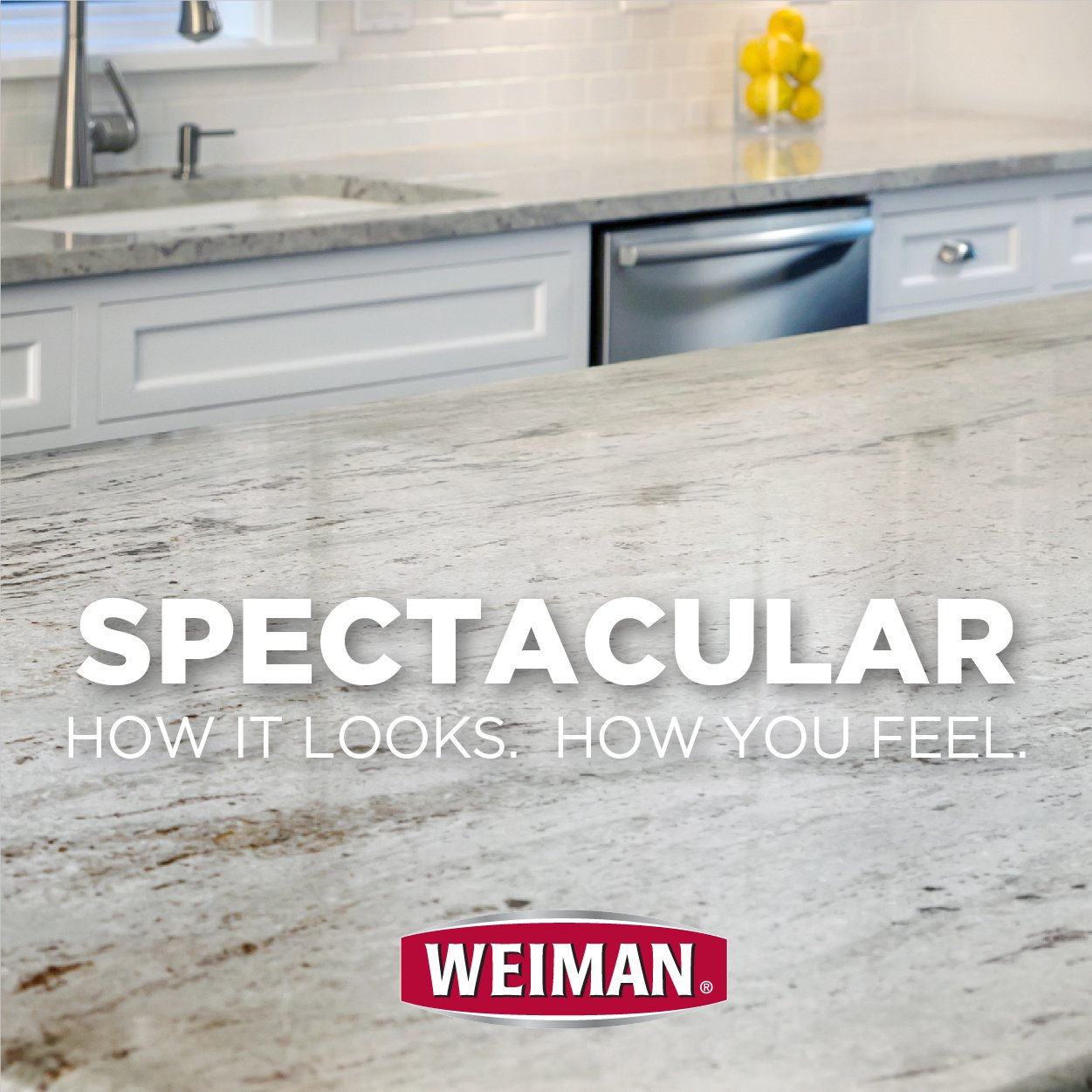 Weiman Granite Cleaner and Polish - 8 Ounce 6 Pack - For Granite Marble Soapstone Quartz Quartzite Slate Limestone Corian Laminate Tile Countertop and More by Weiman (Image #2)